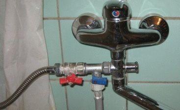Подключение стиральной машины через душ смесителя