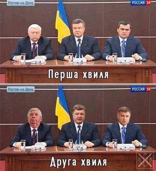 Янукович, Пшонка, Захарченко, Шокин, Порошенко, Авакаов