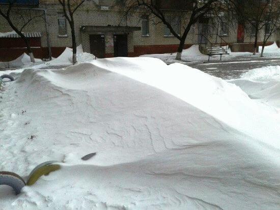 бархан, снег